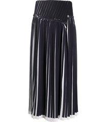 3.1 phillip lim knife pleated midi skirt - black