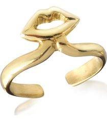 bernard delettrez designer rings, bronze midi ring w/mouth