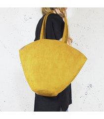 shelly bag torba musztardowa nubuk wodoodporny