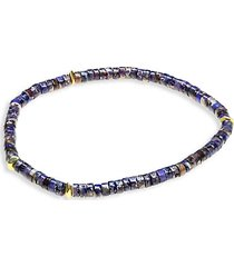 agate, lapis lazuli & dumarite randel stretch bracelet