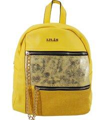 mochila rebeca amarillo lilas carteras