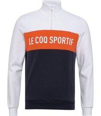 ess saison sweat 12 zip n1 m sweat-shirt tröja multi/mönstrad le coq sportif