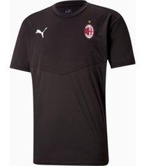 acm warming-up-shirt heren, rood/zwart, maat m | puma