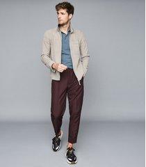 reiss beckton - textured polo shirt in blue, mens, size xxl