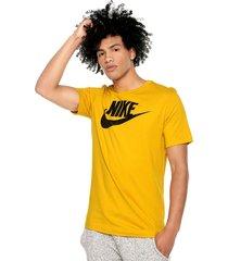 camiseta amarillo nike