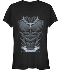 fifth sun marvel women's black panther classic suit costume short sleeve tee shirt