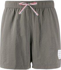 thom browne rwb-stripe swim shorts - grey