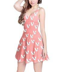 bunny bow peach sleeveless dress