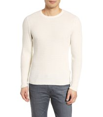 men's billy reid regular fit waffle crewneck pullover, size xx-large - white