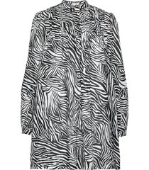 ctn lawn zebra mini drs kort klänning svart michael kors
