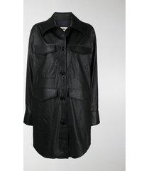 mm6 maison margiela button-up overshirt jacket
