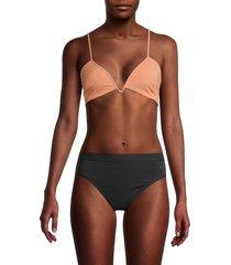 free people women's suri plunge bralette - black - size xs