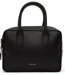 matt & nat arlie small satchel, black shiny nickel