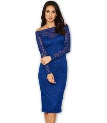 ax paris lace long sleeved midi dress