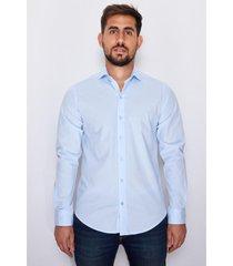 camisa celeste el genovés elastizada