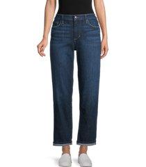 joe's jeans women's rolled-cuffs boyfriend jeans - blue - size 32 (10-12)