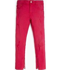 spodnie farbowane w całości