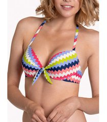 bikini lisca hydra cheek halter push-up zwempak top