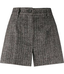 dolce & gabbana tweed shorts - brown