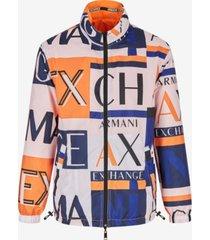 ax armani exchange men's reversible zip-up nylon jacket