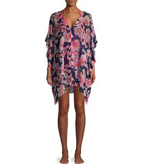 floral-printed coverup