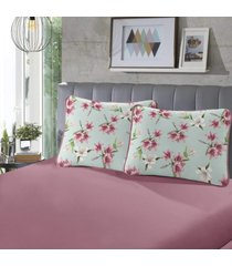 fronha para travesseiro rubi pada 1 peã§a daphne e rose - sbx tãªxtil - rosa - dafiti