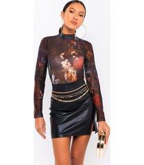 akira renaissance all over mesh long sleeve bodysuit