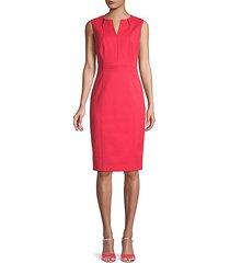 sleeveless stretch sheath dress