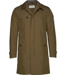 coats woven dunne lange jas groen esprit casual