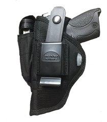 nylon gun hip belt holster for glock 17,19,22 with magazine pouch