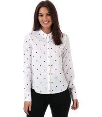 vero moda womens nicky star midi shirt size 6 in white