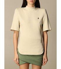 the attico t-shirt tessa the attico t-shirt in cotton with maxi shoulders