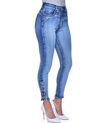 jeans tiro alto high waist skinny 3038 azul amalia jeans