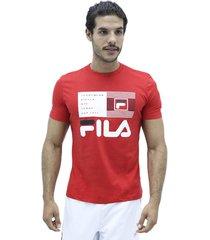 camiseta rojo fila t shirt bandera