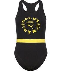 golds gym wns bodysuit t-shirts & tops bodies svart puma