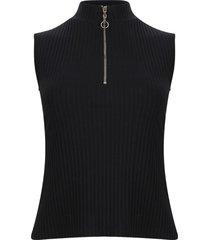 camiseta unicolor cuello alto color negro, talla 12