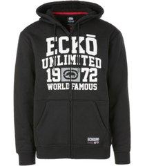 ecko unltd men's world famous full zip sherpa hoodie