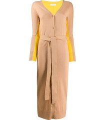 chinti and parker long two-tone cardigan - neutrals