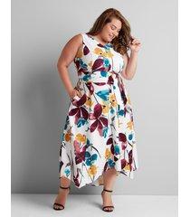 lane bryant women's sleeveless lena dress 16 poppy floral