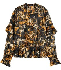maison scotch printed recycled polyester top combo a