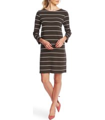 women's court & rowe volley stripe knit dress, size large - green