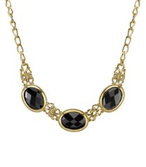 2028 gold-tone collar necklace