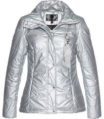 giacca trapuntata lucida (argento) - bpc selection