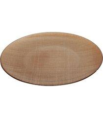 centro de mesa dunya dunya de vidro creme 35cm caramelo - tricae