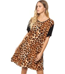 vestido animal print valdivia