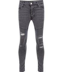 jeans brave soul regular lenght negro - calce ajustado