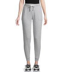 puma women's drawstring jogger pants - light grey - size s