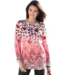 blouse amy vermont rood::wit::zwart