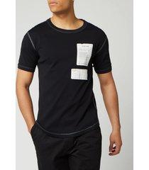 helmut lang men's patch logo base layer t-shirt - basalt black - xl