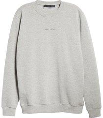 men's 1017 alyx 9sm crewneck logo sweatshirt, size medium - grey